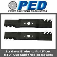 "2 x Predator blades to fit 42"" cut MTD/CUB CADET ride on mower"