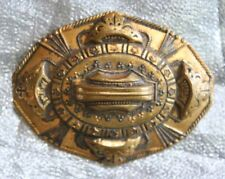 """Brooch 19th Century 2 3/8"""" Antique Victorian Eastlake Style Gold-tone"""
