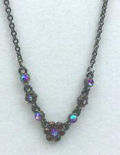 Pilgrim Necklace Rhinestone Ruby AB NWT Gunmetal Sparkly Pendant Choker