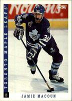 1993-94 Score Hockey #224 Jamie Macoun Card! Toronto Maple Leafs NM-M Defence