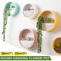 Wall Hanging Plant Flower Pot Vase Planter Round Shape Holder Home Garden Decor