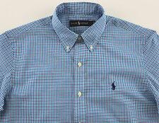 Men's RALPH LAUREN Blue Aqua White Plaid Shirt 3XLT 3LT 3XT TALL NWT NEW
