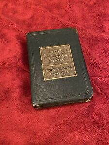Vintage Savings Bank Book, First National Bank in Cannon Falls, MN.  No Key.