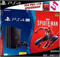 PS4 PLAYSTATION 4 PRO 1TB 4K NEGRA MARVEL´S SPIDERMAN JUEGO MANDO OFERTA OFERTON