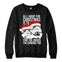 Star Wars Christmas Jumper, Stormtrooper Xmas Festive Gift Adults Kid Jumper Top