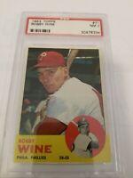 1963 Topps # 71 Bobby Wine PSA 7 NM Phillies