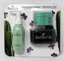 BOSCIA Fresh Start Cleanser,Award Winning CACTUS Moisturizer,HeadBand 3 Pcs SET