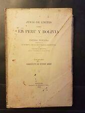 Juicio de Limites Peru Bolivia Prueba Peruana Virreinato de Buenos Aires 1906
