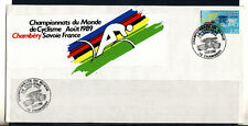 m/ grande enveloppe   championnats du monde de cyclisme Chambéry  1989