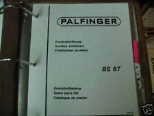 Palfinger BS 87 Auxiliary Stabilizers Parts List