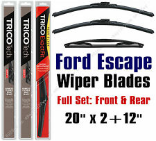 2008 2009 2010 2011 2012 Ford Escape Wiper Blades 3pk Front/Rear - 19200x2/12-E