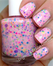 Polish Me Silly Neon I Lost My Marbles Glitter Nail Polish Indie Polish