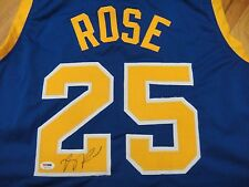 DERRICK ROSE PSA/DNA SIGNED SIMEON HIGH SCHOOL #25 JERSEY CERTIFIED AUTOGRAPH