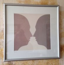 Lovely BEATE SELZER Vase 2 Faces pop art style Print Signed & Numbered serigraph