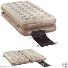 Coleman 4-in-1 Inflatable Camping Air Mattress Quickbed Camping 2-Twin or 1 King