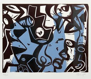 Charlie Hewitt, Untitled - L, Woodblock, Signed and Numbered in Pencil