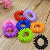 New 10Pcs Elastic Telephone Wire Cord Hair Band Rope Hair Accessories