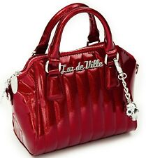 Lux De Ville Lady Vamp CRIMSON RED Sparkle Purse Tote handbag MINI Retro 50's