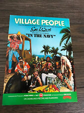 1979 Vintage 8X11 Album Promo Print Ad Go West The Village People In The Navy