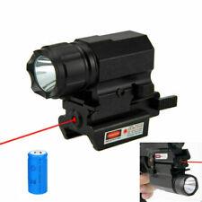 Tactical Pistol Gun Flashlight Light for 20mm Picatinny Rail+Red Dot Laser Sight
