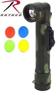 "Flashlight Woodland Camouflage Mini Angle Head Waterproof 6"" Flashlight 322"