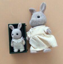 Vintage Retro Sylvanian Families Rabbit & Baby Set Calico