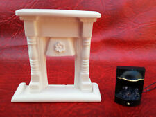 dollhouse small fire and hearth with 12v light up grate detailed miniature 1/12