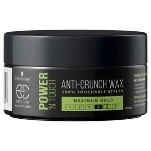 Schwarzkopf Extra Care Power n Touch Anti-Crunch Wax 24h Maximum Hold 4 - 85ml