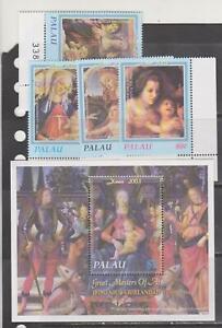 Palau 2003 Christmas Botticelli art paintings set+s/s MNH