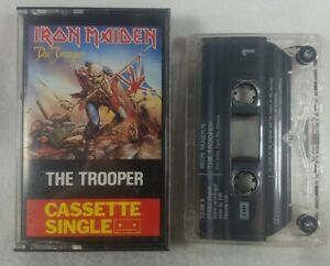 "1983 Iron Maiden ""The Trooper"" Audio  Cassette Single UK Import See Pics Rare"