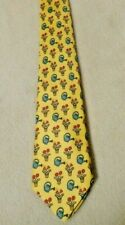 Vintage Hermes French Silk Tie-Hermes Watering Can and Flower Print #7484 1A
