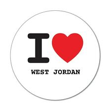 I love WEST JORDAN - Aufkleber Sticker Decal - 6cm