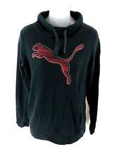 PUMA Womens Jumper Sweater 10 Black Cotton & Polyester