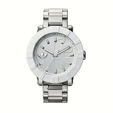 NWT Adidas Men's Watch Oversized Silver SS Bracelet White AMSTERDAM ADH3001 $160
