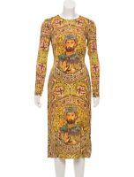 Dolce Gabbana Silk Mosaic Runway Byzantine Dress Size:  US2 IT38