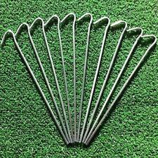 ARTIFICIAL GRASS LAWN GROUND PEGS PINS WEED CONTROL FABRIC SHEET NETS TURF