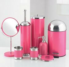 8-Piece Bathroom Accessories Set Pink