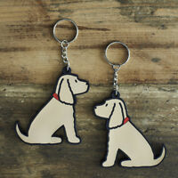 Cute LABRADOODLE Dog Keyring, Novelty Gift, PVC Key Ring, Bag Charm, FREE P&P