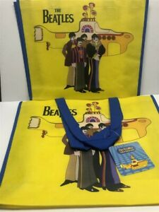 Lot of 2 Vandor Recycled Large Shopper Totes 64186 The Beatles (Sub), As Imaged