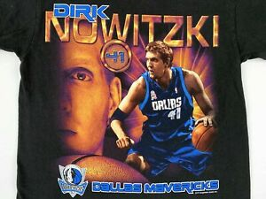 Vintage Dirk Nowitzki Black T Shirt Dallas Mavericks NBA Basketball Funny Gift