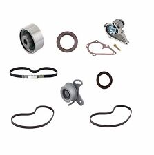8pc Timing Belt Kit w Water Pump Tensioner Roller Drive Belts for Hyundai Accent