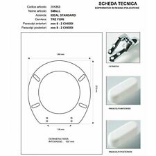 Sedile Small Ideal Standard Colbam 281253 bianco copriwater