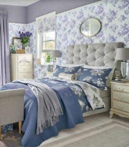 Laura Ashley Violetta Silver White Wallpaper (Same Batch) * FREE DELIVERY *