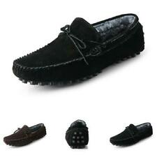 38-45 Mens Driving Moccasins Shoes Fur Inside Warm Sports Slip on Flats Casual L