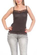 Camisas y tops de mujer blusa de color principal marrón talla M