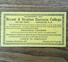 Vintage Bryant & Stratton Business College Advertisment Manchester NH