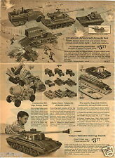 1964 PAPER AD Toy Giant Missle Firing Tank Custom Turnpike Liner Greyhound Bus