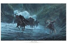 Weta At the Ford of Bruinen Paper Gicle 111/150 by Jv Exclusive Poster 24x16 Coa