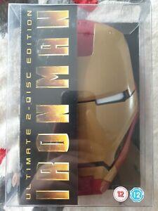 Iron Man (Region 2 DVD, 2-Disc Set) in Limited Edition Helmet Case, Like New