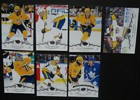 2018-19 Upper Deck UD Nashville Predators Series 2 Team Set of 7 Hockey Cards